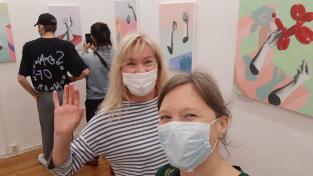 Isa Brörmann auf dem Boom! Kunstfestival 48 Stunden Neukölln